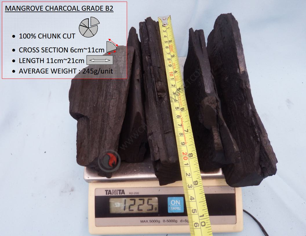 Mangrove Charcoal B2 Grade, charcoal Suppliers