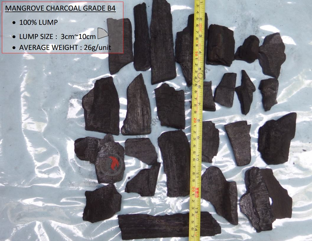 Mangrove Charcoal B4 Grade, Charcoal Suppiers
