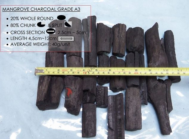 Mangrove Charcoal A3 Grade, Charcoal Suppliers
