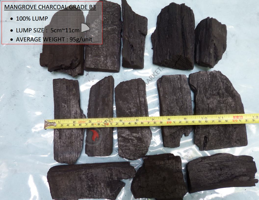 Mangrove Charcoal B3 Grade,  Charcoal Suppliers