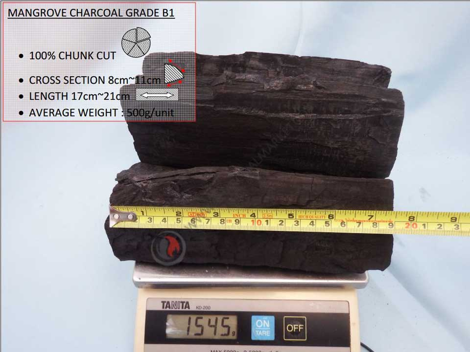 Mangrove Charcoal B1 Grade