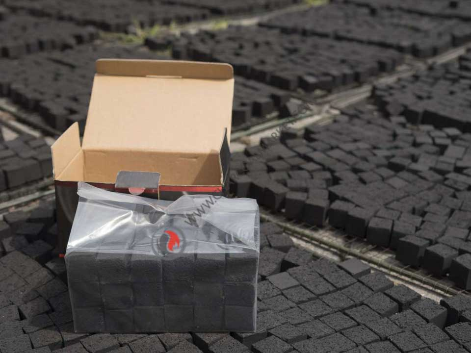 Charcoal cubes for shisha